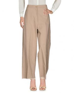 Повседневные брюки DANIELA PANCHERI. Цвет: бежевый