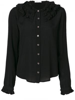Рубашка с пуговицами Peter Jensen. Цвет: чёрный