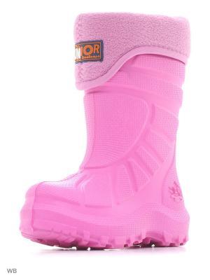Резиновые сапоги ДюнАстра. Цвет: светло-коралловый, бледно-розовый, розовый