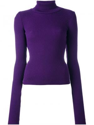 Пуловер с отделкой на рукавах Jacquemus. Цвет: розовый и фиолетовый