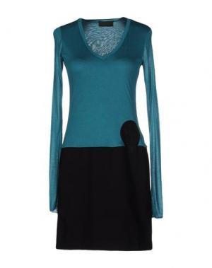 Короткое платье CRISTIANO BURANI. Цвет: цвет морской волны