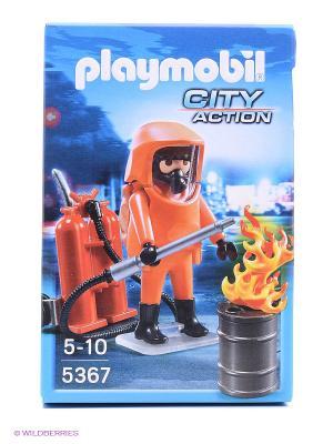 Конструктор Специальные пожарные силы Playmobil. Цвет: оранжевый