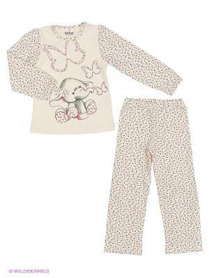 Пижама BAYKAR. Цвет: кремовый, белый