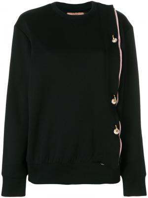 Crystal detail sweatshirt Coliac. Цвет: чёрный