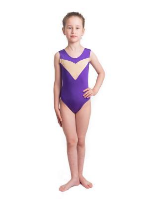 Купальники гимнастические Malvetta. Цвет: темно-фиолетовый