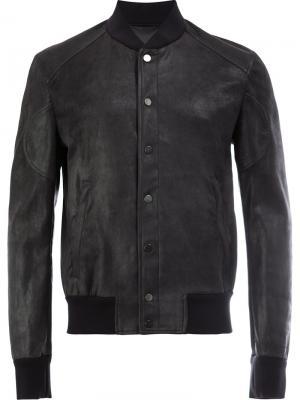 Куртка-бомбер Drome. Цвет: чёрный