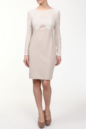 Платье M&L Collection. Цвет: бежевый