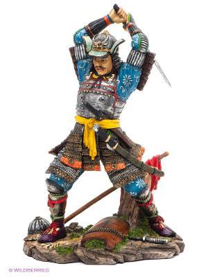 Статуэтка Японский воин Veronese. Цвет: серебристый, желтый, коричневый, синий