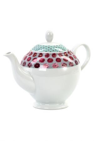 Чайник  Малина 1,2 л La Rose des Sables. Цвет: бирюзовый, малиновый