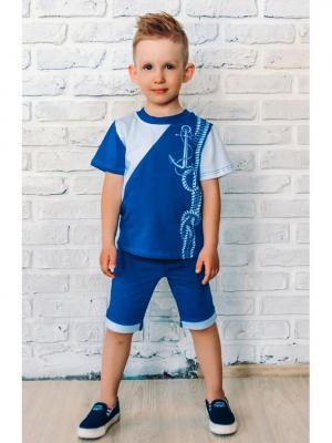 Футболка JERRY JOY. Цвет: синий