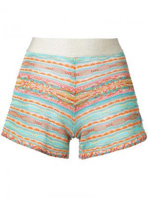 Трикотажные шорты Cecilia Prado. Цвет: многоцветный