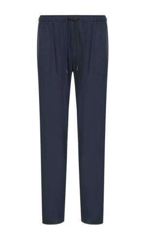 Домашние брюки из вискозы свободного кроя Derek Rose. Цвет: синий