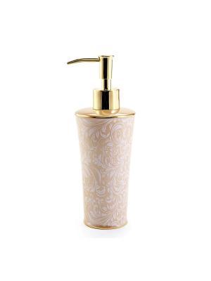 Дозатор для жидкого мыла KASSATEX. Цвет: бежевый