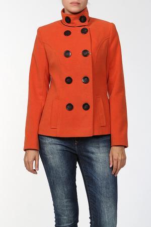 Пальто World Style. Цвет: оранжевый