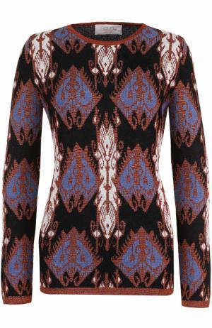 Пуловер с круглым вырезом и принтом Tak.Ori. Цвет: черный