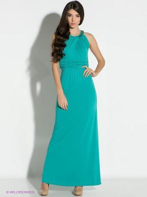 Платье Vera Mont. Цвет: бирюзовый