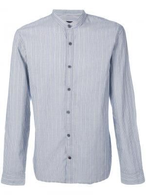 Mandarin collar shirt John Varvatos. Цвет: синий
