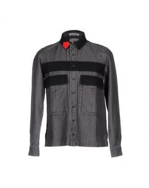 Джинсовая рубашка ANDREA POMPILIO. Цвет: серый