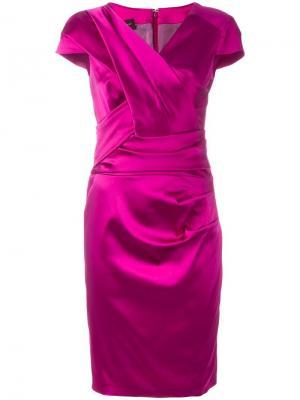 Платье Lodovica Talbot Runhof. Цвет: розовый и фиолетовый