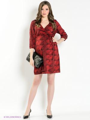 Платье Mama Licious. Цвет: красный