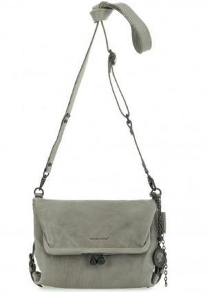 Серая кожаная сумка со съемным плечевым ремнем aunts & uncles. Цвет: серый