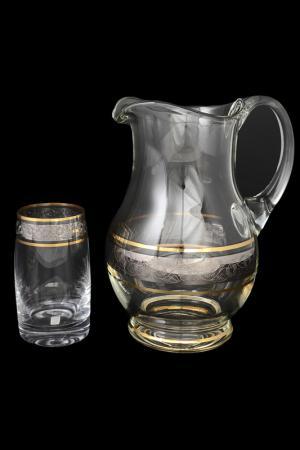 Набор для воды 7 пр. Bohemia. Цвет: прозрачный, золотой