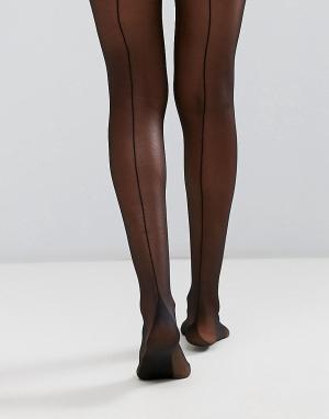 Gipsy Колготки с французским швом сзади. Цвет: черный