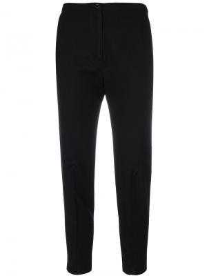 Укороченные брюки с высокой талией Oyuna. Цвет: чёрный