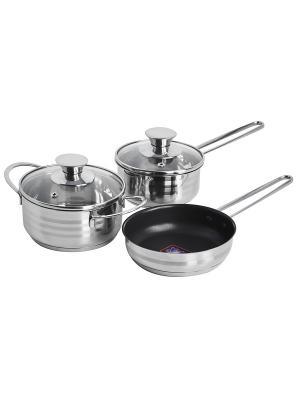 Набор посуды 5 предметов Regent inox. Цвет: серебристый