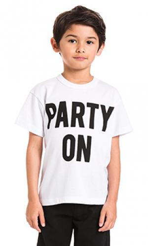 Футболка party on Chaser. Цвет: белый