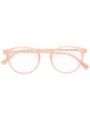 Очки Talini в круглой оправе Mykita. Цвет: розовый и фиолетовый