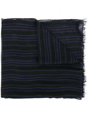 Полосатый шарф John Varvatos. Цвет: чёрный