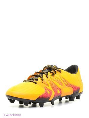 Бутсы X 15.3 Fg/Ag Adidas. Цвет: желтый