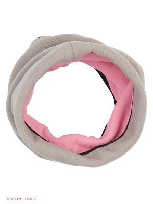 Снуд ЛисФлис. Цвет: серый, розовый