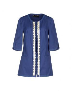 Легкое пальто GATTINONI. Цвет: синий