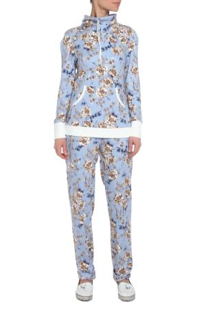 Костюм: джемпер, брюки Adzhedo. Цвет: голубой, цветочки