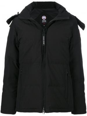 Пальто-парка с капюшоном Canada Goose. Цвет: чёрный