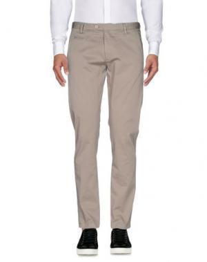 Повседневные брюки EXIBIT. Цвет: голубиный серый