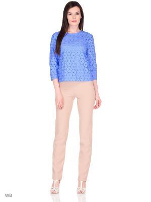 Блузка DEVORE. Цвет: синий, голубой, лазурный