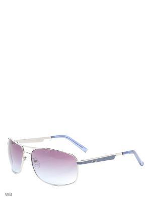 Солнцезащитные очки GUF 0117 Q83 SI-33 GUESS. Цвет: серебристый, синий