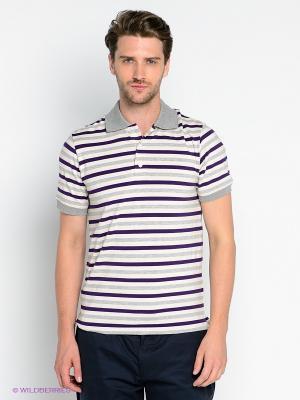 Футболка-поло Gerry Ross. Цвет: кремовый, серый, фиолетовый