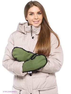 Варежки Shelter. Цвет: зеленый