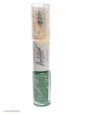Лак для ногтей, Duo Polish Jade Flakes Models Own. Цвет: зеленый, прозрачный