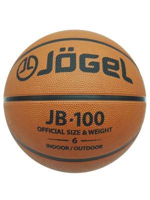 Мяч баскетбольный Jogel JB-100 №6. Цвет: коричневый