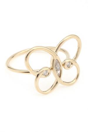 Кольцо Nina Ricci. Цвет: золотой