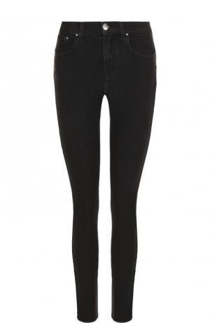 Однотонные джинсы-скинни Jacob Cohen. Цвет: черный