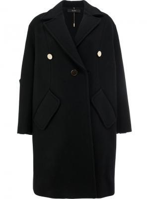 Пальто с заниженной линией плеч Ellery. Цвет: чёрный