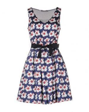 Короткое платье 19.70 NINETEEN SEVENTY. Цвет: синий
