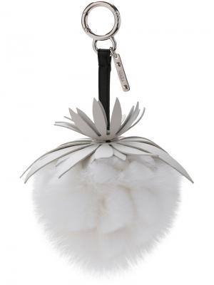 Брелок в виде ананаса Fendi. Цвет: белый