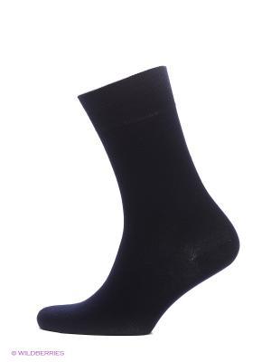 Носки премиум-класса из бамбука, 2 пары HOSIERY. Цвет: темно-синий